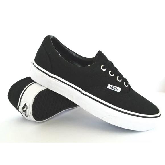 d0c3784dc08f Vans Shoes | Era Ua Black Canvas Sneaker White Outso | Poshmark
